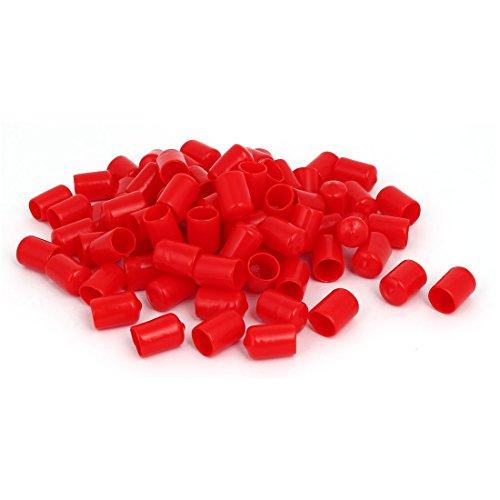 sourcingmap 14mm diam interno isolato in gomma cappuccio di estremità con filettatura a vite del coperchio di protezione Rosso 100pz