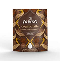 Contains one 75g packs, each with 25 servings Made with Love and herbal wisdom Naturally delicious blend of cacao, Maca and Ashwagandha Certified Fair for Life Organic and Vegan No added sugar