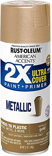 Rust-Oleum 327909 American Accents Spray Paint, 11 Oz, Metallic Gold