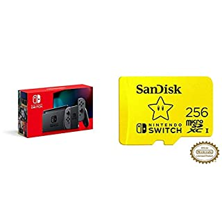 Nintendo Switch with Gray Joy‑Con - HAC-001(-01) + SanDisk 256GB MicroSDXC UHS-I Card (B07YMJ4XBP) | Amazon price tracker / tracking, Amazon price history charts, Amazon price watches, Amazon price drop alerts