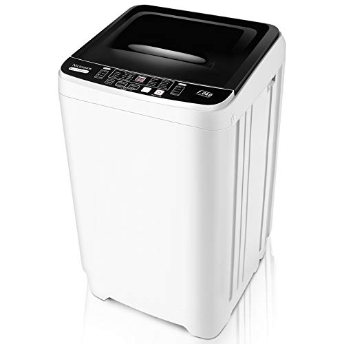 Portable Washer Nictemaw Full-Automatic Washer Machine 1.70Cu.ft/15.7Lbs Capacity Full-Automatic Compact 2 in 1 Laundry Washer with 10 programs & 8 Water Level Selections for Dorm, Apartments, RVs, Camping