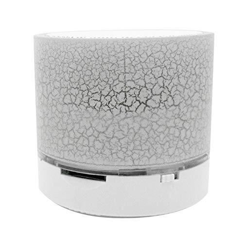 Mini Altavoz Altavoz inalámbrico portátil Sistema de Sonido Altavoz de Sonido Envolvente de música estéreo 3D - Blanco