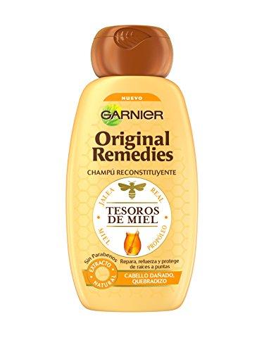 Garnier Shampoo, Original Remedies Champú Tesoros de Miel, 250 ml
