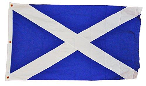 Scotland Scottish St Andrews Cross Flag Heavy Cotton Sewn Stripes 3 X 5 Nwt