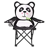 miuse Kids Folding Lawn and Camping Chair, Panda Design Portable Seat Stick Chair