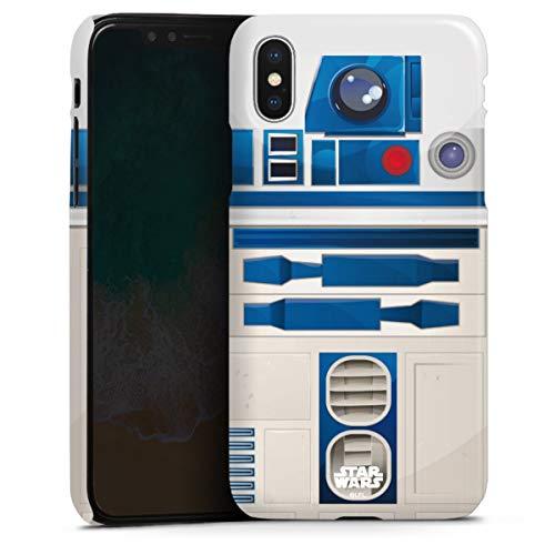 DeinDesign Premium Case kompatibel mit Apple iPhone X Smartphone Handyhülle Hülle glänzend Star Wars r2d2 Fanartikel