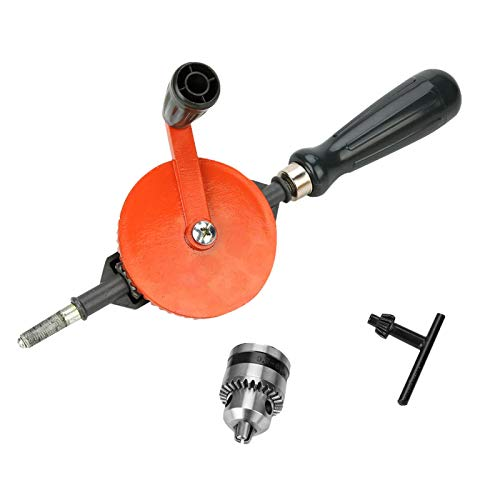 Hand Drill-Portable Hand Crank Drill Mini Manual Drill with Double Pinions for Wood Plastic(1/4)