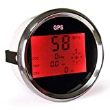 ELING Universal Digital GPS Speedometer Speedo Gauge ODO COG Trip for Car Motorcycle Truck Yacht Vessel 3-3/8'' (85mm) 9-32V