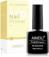 AIMEILI Primer Unghie Base Bonder Nail Prep Primer Aria Veloce Asciutto Primer Unghie Trucco Non Lampada, base trucco...
