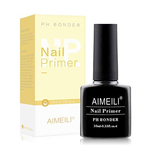 AIMEILI Nail Primer Gel Nail Prep Bond Primer für Gelnägel UV LED Gel Nagellack Acrylpulver Acryl Nägel 10ml