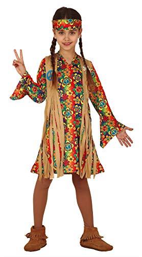 FIESTAS GUIRCA Disfraz de Hippy Hippie Hija de la niña de Las Flores de los años 60