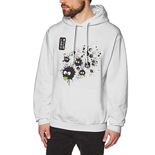 shotngwu Makkuro Kurosuke Ink Mens Pullover Hoodies Crewneck Long Sleeve Sweatshirt White
