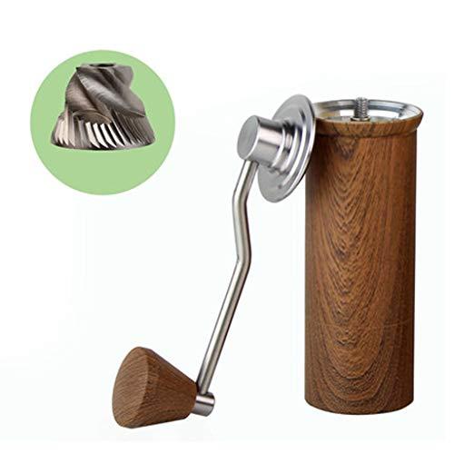 Fgfxiao Handmolen, handmolen, koffiemolen, hoofdkoffiemolen van roestvrij staal en vrij instelbare sterkte