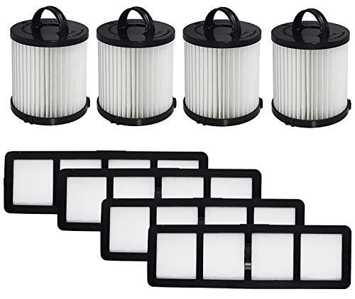 OxoxO Repuesto de filtro compatible con Eureka DCF-21 y EF-6 parte 67821, 68931, 69963 y 830911 aspiradoras verticales HEPA filtro lavable y reutilizable de (juego de 4)