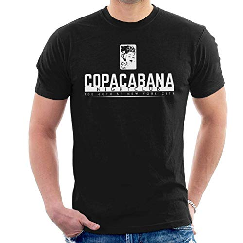 YURENYU Copacabana Nightclub Goodfellas Musterdruck Herren T-Shirt Sport Casual Kurzarm Black M