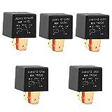 5 relés de 12 V, 80 A, 5 pines, 12 V, interruptor automático, relé de separación, 12 V, para faros adicionales