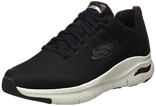 Skechers Arch Fit-Titan, Zapatillas para Caminar Hombre, Negro (BKW Black Textile White Trim), 43 EU