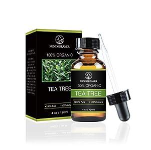 Aceite esencial de árbol de té - Grado terapéutico 100% puro y natural - El mejor paquete de regalo para hombres y mujeres - 120ml (4 oz)