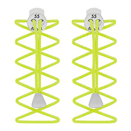 55 Sport Cordones Elásticos para Zapatillas de Deporte - Neón Amarillo