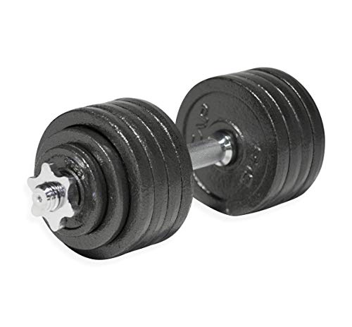 CAP Barbell 52.5-Pound Adjustable Dumbbell Set, Single, Black