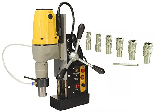 Steel Dragon Tools MD40 Magnetic Drill Press with 7pc 1in. HSS Annular Cutter Kit