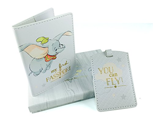 Disney Baby Dumbo Baby Passport Cover and Luggage Tag Boxed New