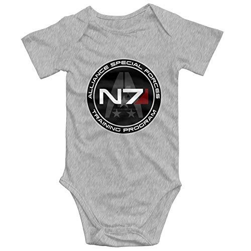 Mass Effect N7 Infant Girl Boys Clothes 100% Cotton Bodysuit Funny Cute Jumpsuit 0-24M