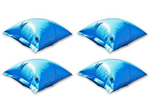 ESTA Poolshop 4 x Poolkissen Deluxe PE für Winterabdeckplane blau aufblasbare Luftkissen | Beste Qualität