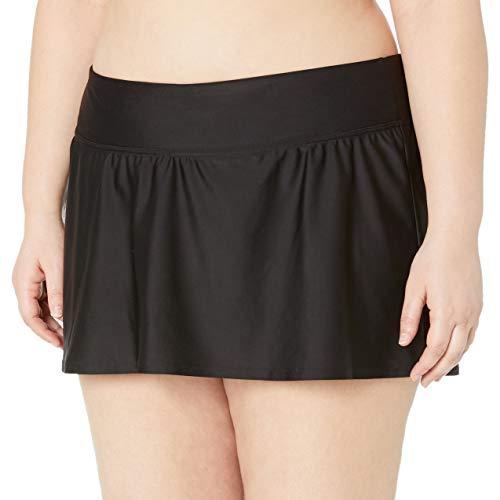 Amazon Brand - Coastal Blue Plus Size Bikini Bottom, Black, 2X (20W-22W)
