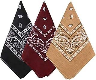 OfferDeal 3Pcs Headwear Face Mask Cowboy Bandanas for Men Women Head Scarf Novelty Print Head Wrap Scarf Wristband for Par...