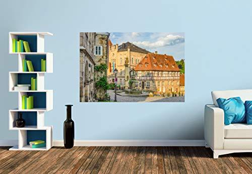 Premium Foto-Tapete Blick aud den Melchior Otto Platz (versch. Größen) (Size S | 186 x 124 cm) Design-Tapete, Wand-Tapete, Wand-Dekoration, Photo-Tapete, Markenqualität von ERFURT