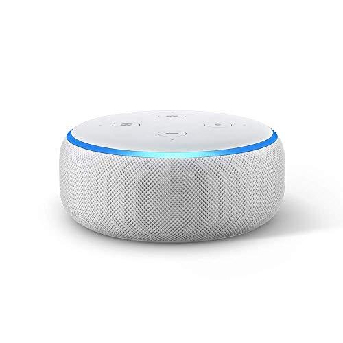 Echo Dot (3ra generación) - Bocina inteligente con reloj y Alexa – Gris claro