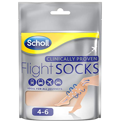 Scholl Footcare - Medically Proven 2 Pairs Of Sheer Natural Flight Socks To P...