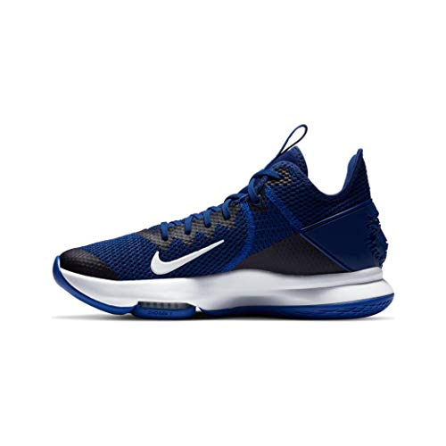 Nike Herren Lebron Witness IV TB Basketball Shoe, DEEP ROYAL Blue/White-Racer Blue, 42 EU