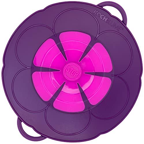 Kochblume Del inventor Armin Harecker   Lila   Set de protección contra sobreheridas para ollas de 14 a 18 cm de diámetro   S 22 cm