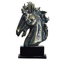 馬の胸像、装飾的な馬の像の胸像馬の胸の胸像の頭の彫刻家の装飾の贈り物