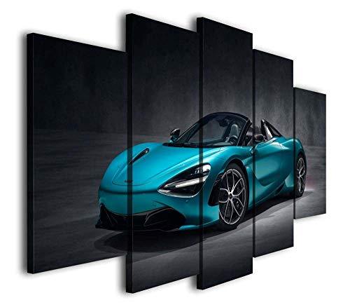 VKEXVDR Lienzo Decorativo para Pared Hypercar Azul DiseñO de GicléE,Estilo Moderno,Ideal para Salones-200x100cm Sin Marco