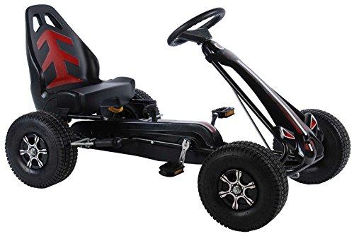 Volare Go-Kart Racing Car Big - Big Wheel Tretauto für Kinder mit Luftreifen von 4-7 Jahren
