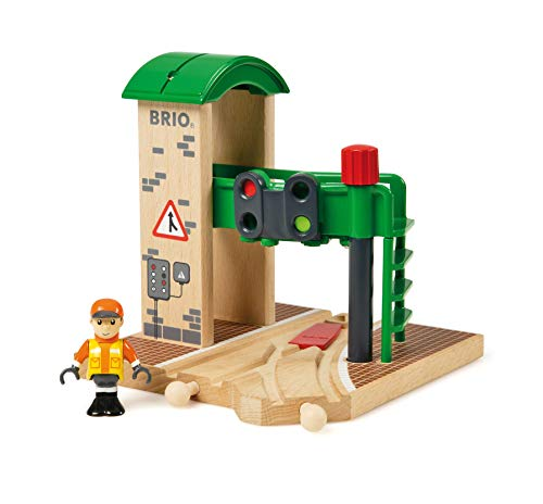 BRIO World Signal Station for Kids age 3 years and up compatible with all BRIO train sets