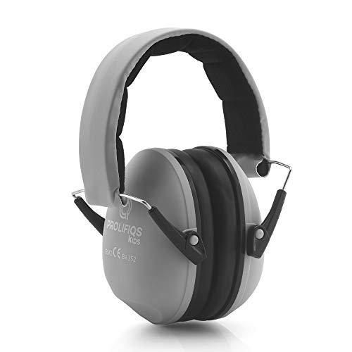 Gehörschutz Kinder und Jugendliche I Lärmschutz Kopfhörer für Kinder + Jugendliche von 3 bis 16 Jahre I PVC-freie Lärmschutzkopfhörer für Jungen & Mädchen I Grün & Pink (Grau)