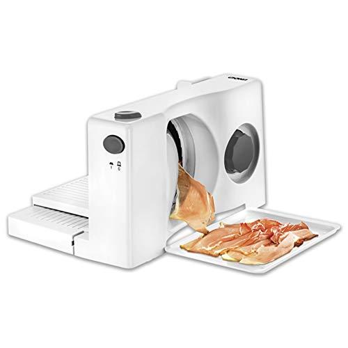 1Máquina cortadora de carne, cortadora de cocina multifunción, cortadora de alimentos eléctrica de acero inoxidable para el hogar, grosor ajustable para carnes frías, queso, pan, verduras