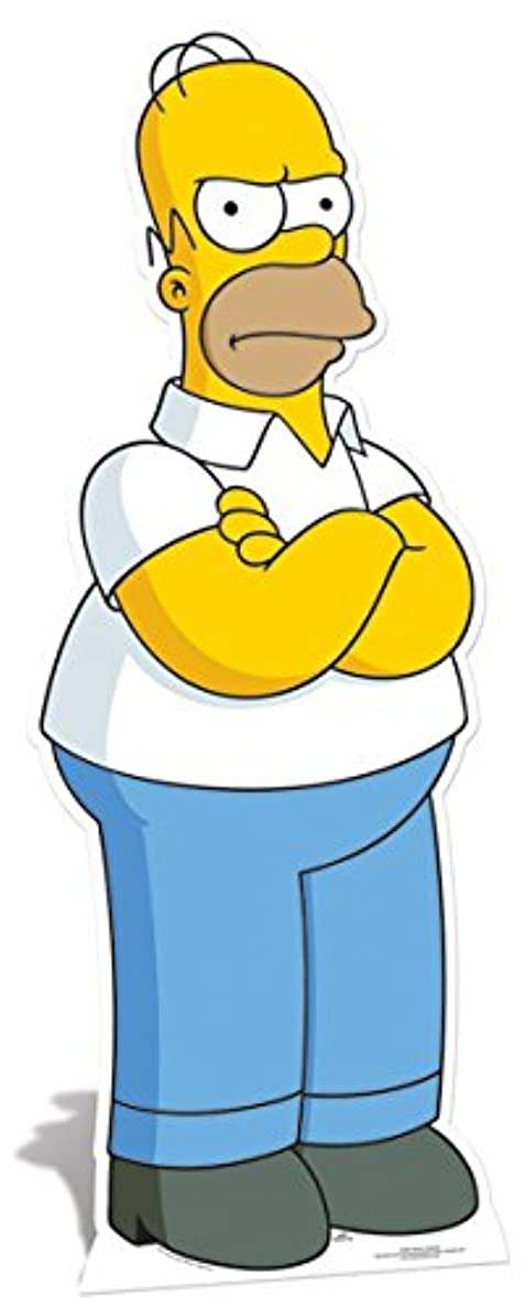 Star Cutouts Cut Out of Homer Simpson