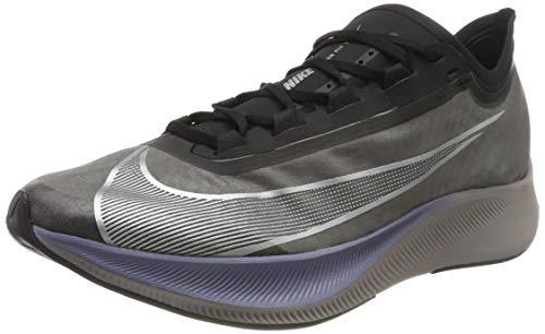 Nike Men's Zoom Fly 3 Running Shoes, (Thunder Grey/MTLC Silver/Black/Pumice/Indigo Haze 001), 13 UK