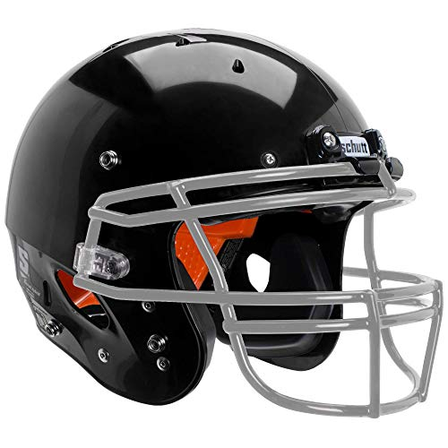 Schutt Sports Recruit Hybrid Youth Football Helmet (Facemask NOT Included), Black, Small
