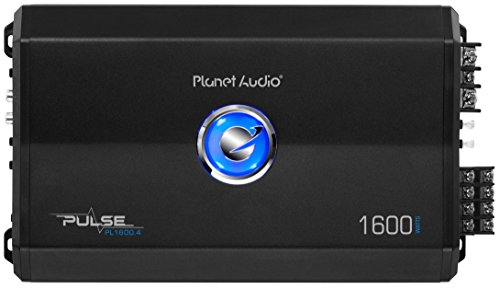 Planet Audio PL1600.4 4 Channel Car Amplifier - 1600 Watts, Full Range, Class A/B, 2/8 Ohm Stable, Mosfet Power Supply, Bridgeable