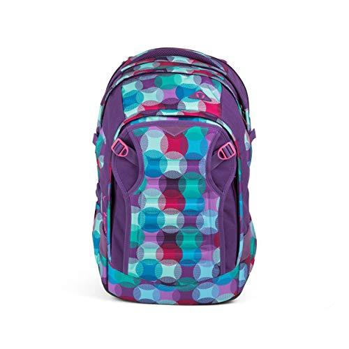 Satch match Schulrucksack - ergonomisch, erweiterbar auf 35 Liter, extra Fronttasche - Hurly Pearly - Blau