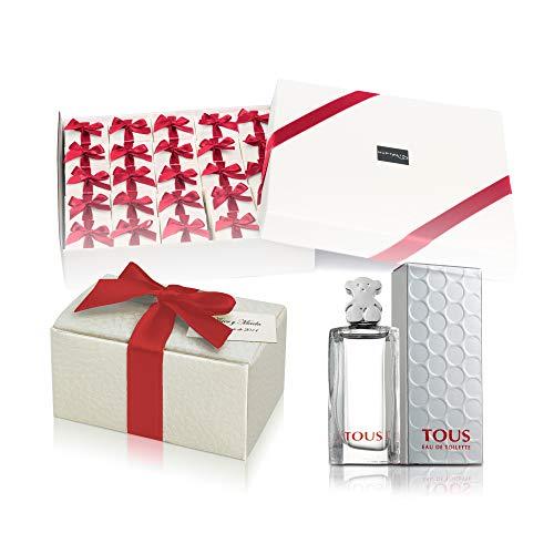 Pack 24 perfumes miniaturas originales de mujer como detalles para bodas colonias Tous Eau de toilette 4,5 ml. personalizados para regalar invitados primera comunión y bautizo