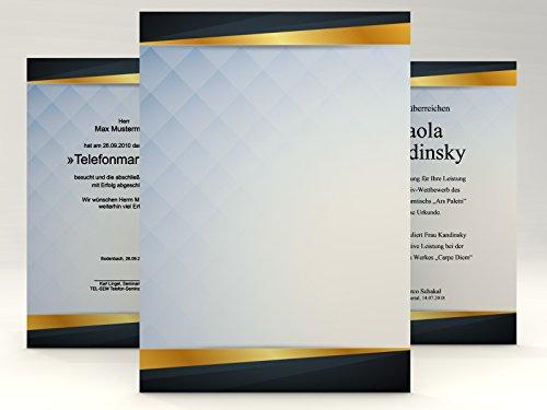 Urkundenpapier Square, 50 Blatt für Zertifikate DIN A4, 190g/qm