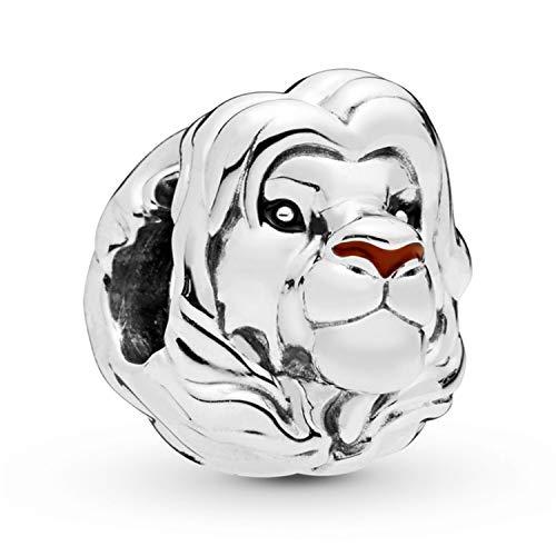 Desconocido JCaleydo Charm, Rey León, Plata de Ley 925 *Caja Regalo* Compatible con Pulsera Pandora