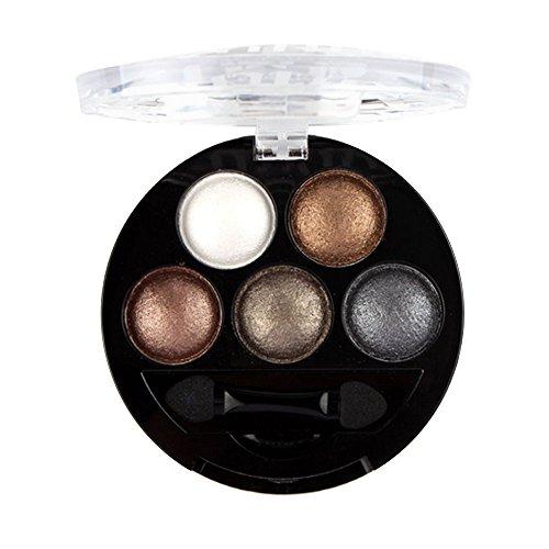 Fards à paupières,5 couleurs Yeux fard à paupières maquillage pigment ombre palette-Lonshell (01#)